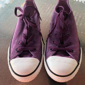 Converse purple glitter shoes girls 3 W's 5 CLEAN